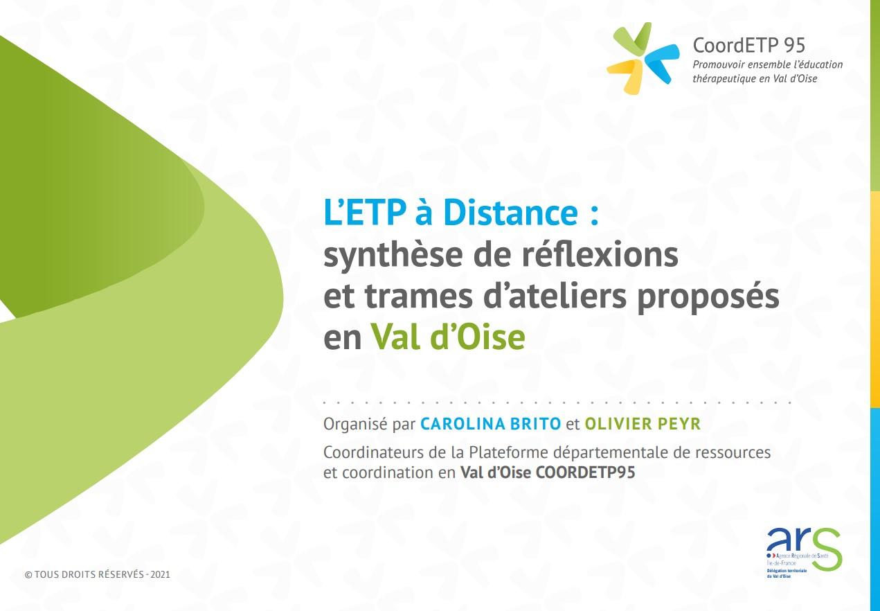 Document de synthèse des actions d'ETP à distance en Val d'Oise